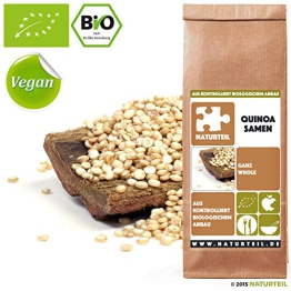 NATURTEIL - BIO QUINOA SAMEN GANZ / Getreide, Superfood in Rohkostqualität, Quinoa Seeds Whole Organic, Raw, Vegan - 1000g - 1